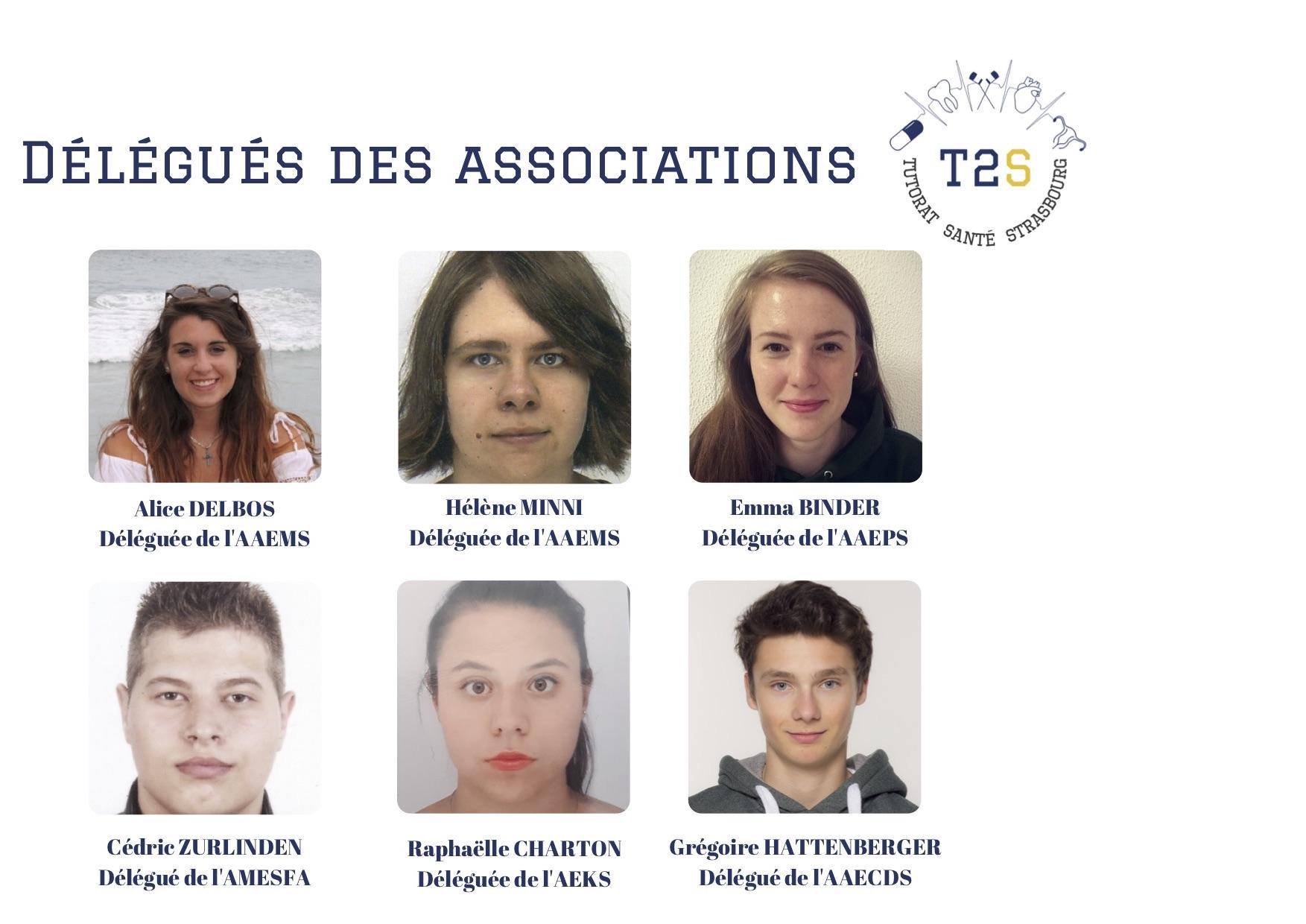 Trombinoscope Délégués des Asso 2018-2019
