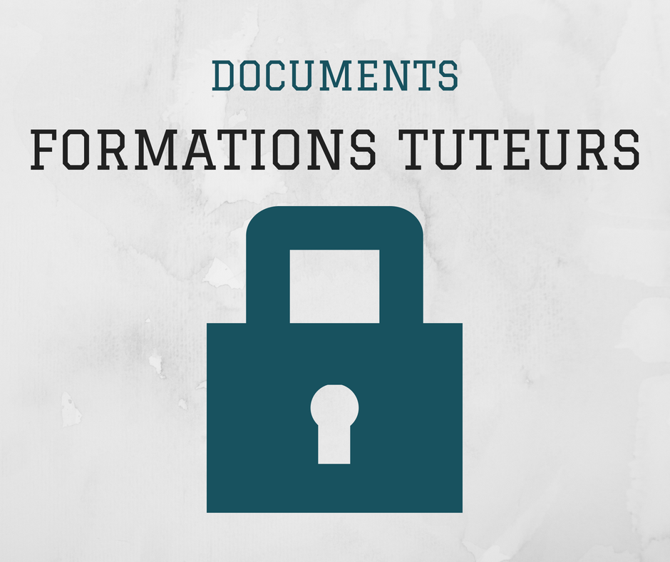 Documents formations tuteurs