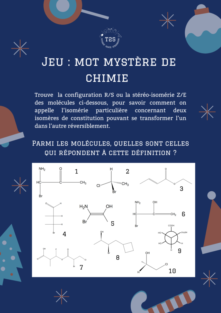 mot mystère chimie
